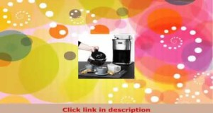 Andrew James Premium Programmable Chrome Filter Coffee Maker With Integrated Bean Grinder