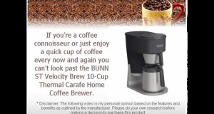 BUNN ST Velocity Brew Home Coffee Brewer Review