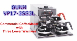 Commercial Coffee maker- BUNN 13300.0003 VP17-3SS3L Pourover Review