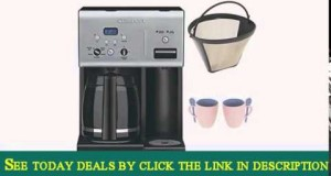 Cuisinart CHW-12 12-cup Programmable Coffee Maker w/ Gold Tone Basket Coffee Filter and Knox