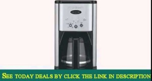 Cuisinart DCC-1200 Brew Central 12-Cup Programmable Coffeemaker – Black/Brushed Metal Certified