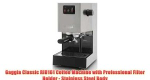 Gaggia Classic RI8161 Coffee Machine with Professional Filter Holder – Stainless Steel Body