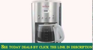 Gevalia XCC-12 12 Cup Drip Coffee Maker Stainless Steel