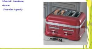 KitchenAid KMT4203CA Candy Apple Red 4-Slice Pro Line