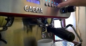 Learning to Make Espresso: Emma Pulling a Shot on Gaggia Deco Professional/Commercial Coffee Machine