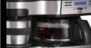 New Hamilton Beach Single Serve Coffee Brewer and Full Pot Coffee Maker, 2 Slide