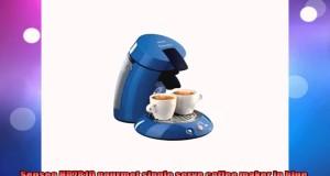 Senseo HD7810 gourmet single serve coffee maker in blue
